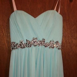 Size 1, 100% polyester homecoming dress